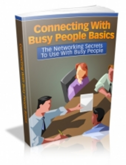 Product picture Connecting With Busy People Basics