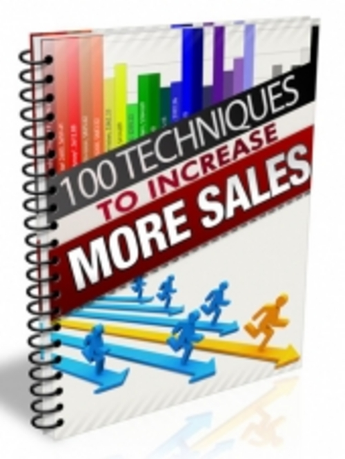 Product picture 100 Techniques to Increase More Sales